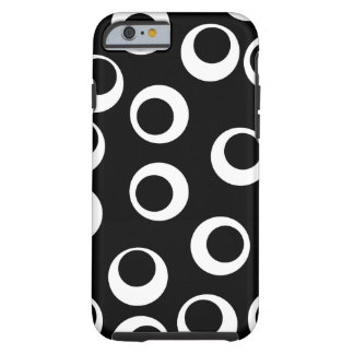 Diseño retro blanco y negro de moda funda para iPhone 6 tough