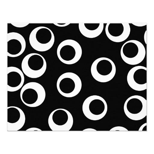 Diseño retro blanco y negro de moda anuncio personalizado