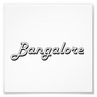 Diseño retro clásico de Bangalore la India Arte Con Fotos