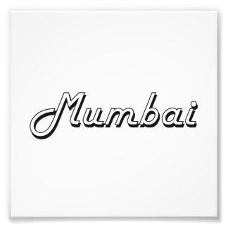 Diseño retro clásico de Bombay la India Fotografias
