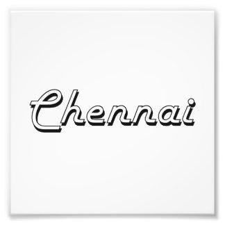 Diseño retro clásico de Chennai la India Impresión Fotográfica