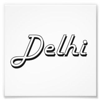 Diseño retro clásico de Delhi la India Arte Con Fotos