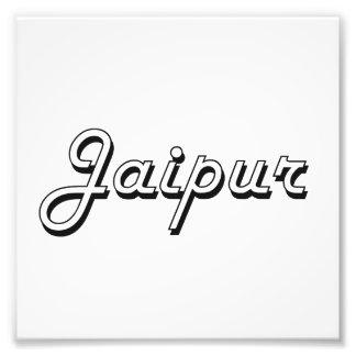Diseño retro clásico de Jaipur la India Arte Fotográfico