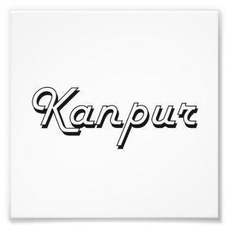 Diseño retro clásico de Kanpur la India Impresión Fotográfica