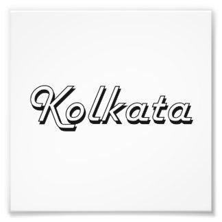 Diseño retro clásico de Kolkata la India Fotografía