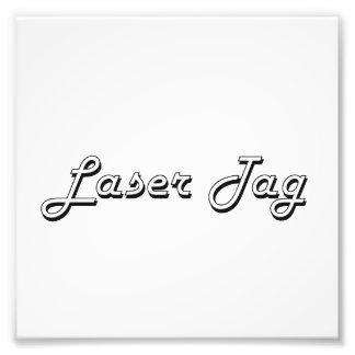 Diseño retro clásico de la etiqueta del laser fotografia