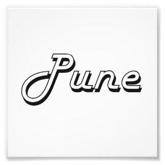 Diseño retro clásico de Pune la India Impresiones Fotograficas