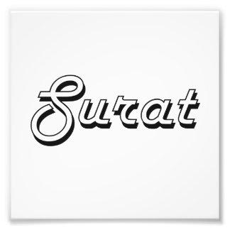 Diseño retro clásico de Surat la India Impresión Fotográfica