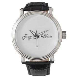 Diseño retro clásico del esfuerzo supremo relojes de mano