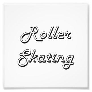 Diseño retro clásico del patinaje sobre ruedas fotografias