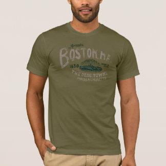 Diseño retro de Boston Massachusetts los E.E.U.U. Camiseta
