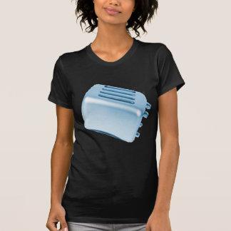 Diseño retro de la tostadora del vintage - azul camiseta