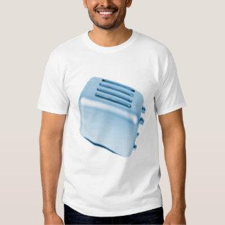 Diseño retro de la tostadora del vintage - azul camisetas