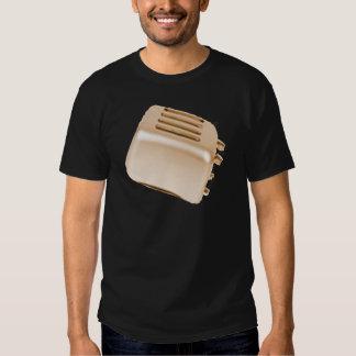 Diseño retro de la tostadora del vintage - naranja camisetas