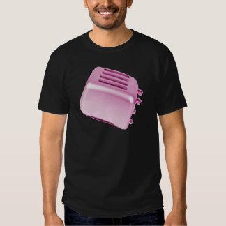 Diseño retro de la tostadora del vintage - rosa camiseta