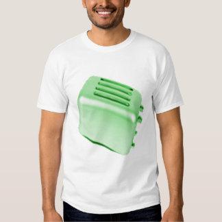 Diseño retro de la tostadora del vintage - verde camisetas