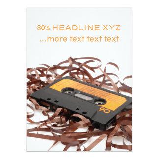 Diseño retro de los años 80 - cinta de casete invitación 13,9 x 19,0 cm