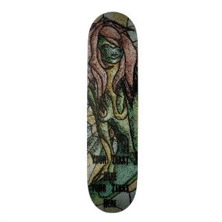 diseño retro de presentación verde de la señora monopatín 18,4 cm