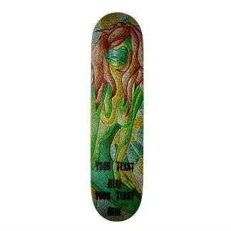diseño retro de presentación verde de la señora tabla de patinar