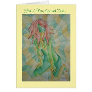 diseño retro de presentación verde de la señora tarjeta de felicitación