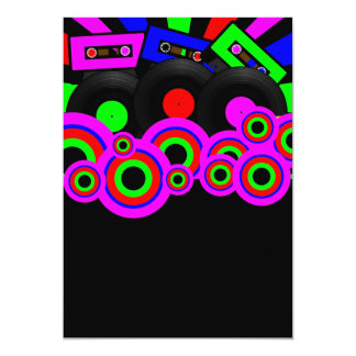 Diseño retro del fiesta invitación 12,7 x 17,8 cm
