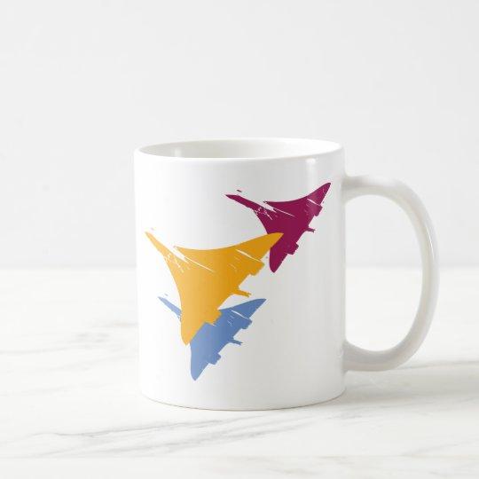 Diseño retro del vuelo de la aviación del taza de café