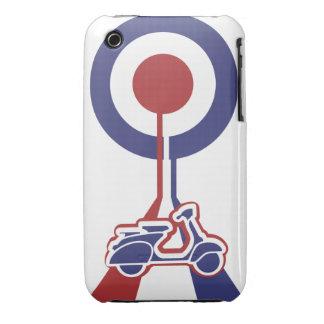 Diseño retro personalizado de la blanco de la MOD Case-Mate iPhone 3 Protector