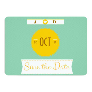 """Diseño retro """"reserva invitaciones del boda de la invitación 12,7 x 17,8 cm"""