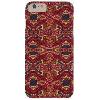 Diseño rizado dibujado mano colorida abstracta del funda barely there iPhone 6 plus