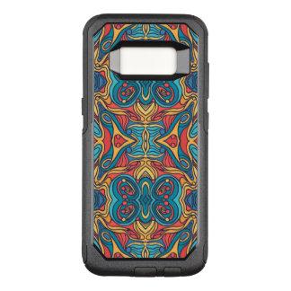 Diseño rizado dibujado mano colorida abstracta del funda otterbox commuter para samsung galaxy s8