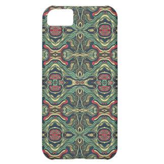 Diseño rizado dibujado mano colorida abstracta del funda para iPhone 5C