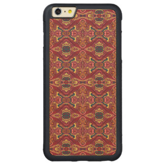 Diseño rizado dibujado mano colorida abstracta del funda protectora de arce para iPhone 6 plus de car