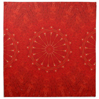 Diseño rojo brillante elegante festivo del servilleta de tela