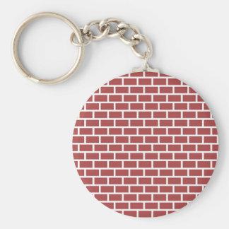 Diseño rojo de la pared de ladrillo llavero personalizado