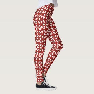 Diseño rojo del extracto del vintage leggings