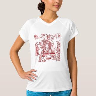 Diseño rojo del modelo de Toile Camiseta