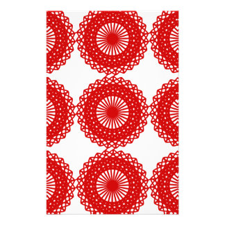 Diseño rojo del modelo del cordón folleto 14 x 21,6 cm