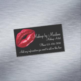 Diseño rojo elegante de Fashionn de los labios del Tarjeta De Visita Magnética