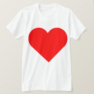 Diseño rojo muy grande de la impresión del doble camiseta