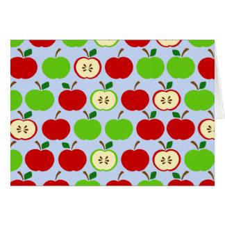 Diseño rojo verde del modelo de la manzana tarjeton