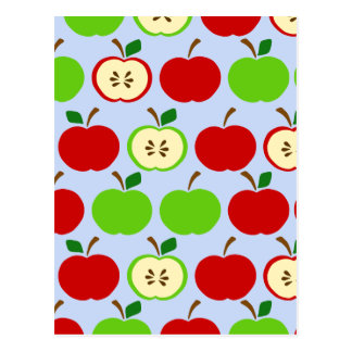 Diseño rojo verde del modelo de la manzana postal