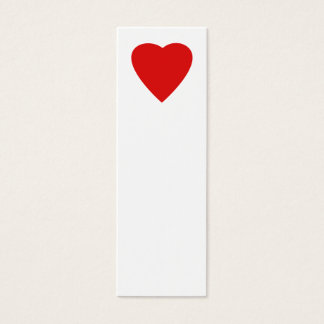 Diseño rojo y blanco del corazón del amor tarjeta de visita pequeña