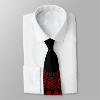 Diseño rojo y negro moderno del cordón del corbatas