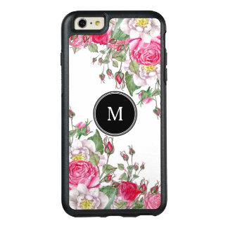 Diseño rosado de los rosas del vintage funda otterbox para iPhone 6/6s plus