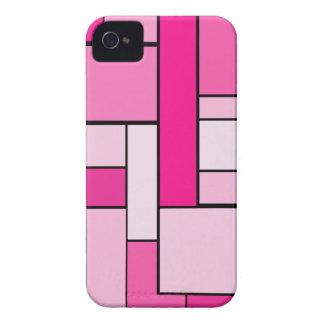 Diseño rosado del entarimado Case-Mate iPhone 4 cárcasas