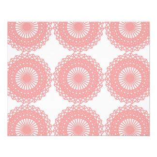 Diseño rosado del modelo del cordón folleto 11,4 x 14,2 cm