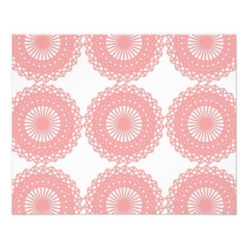 Diseño rosado del modelo del cordón tarjetas informativas