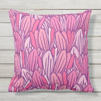 Diseño rosado hermoso de la magnolia cojín decorativo