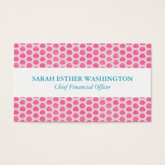 Diseño rosado profesional del arco iris tarjeta de visita