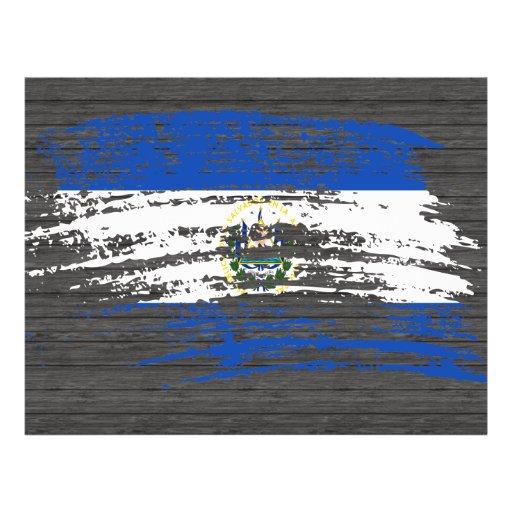 Diseño salvadoreño fresco de la bandera tarjetones